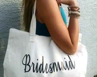 Bridesmaid canvas tote