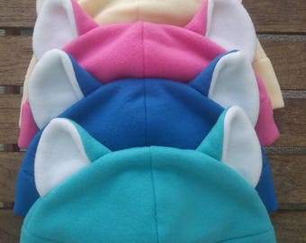 Kitty cat fleece animal hat