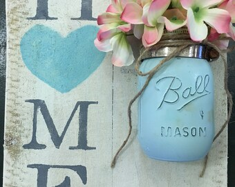 Home Heart with Mason Jar