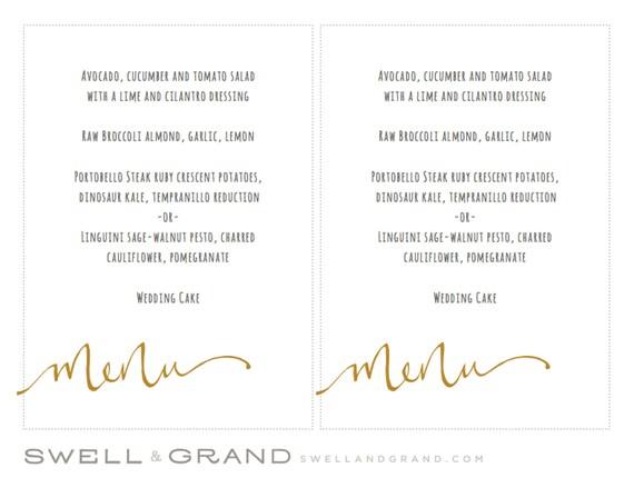 menu mariage exemple. Black Bedroom Furniture Sets. Home Design Ideas