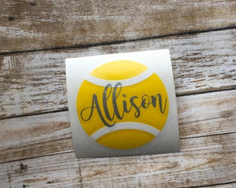 Tennis Decal | Tennis Monogram | Personalized Tennis Decal | Tennis Car Decal | Yeti Decal | Laptop Decal | Personalized Decal | Car Decal