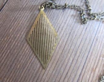 """Diamant-Form-Halskette, 18"""""""