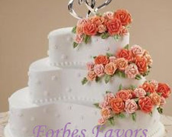 ON SALE  Double Heart Cake Topper