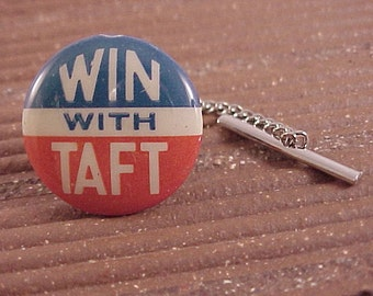 Tie Tack Taft Political Campaign Pin - Free Shipping to USA
