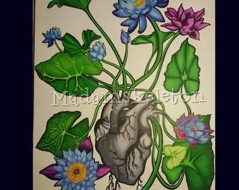 Lotus Heart Print