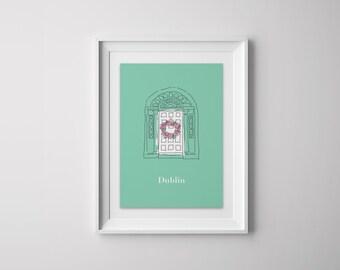 a4 Dublin Door Print