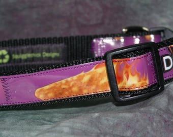 Collier de chien réglable de sacs de croustilles de Dorito recyclé épicée de piment doux