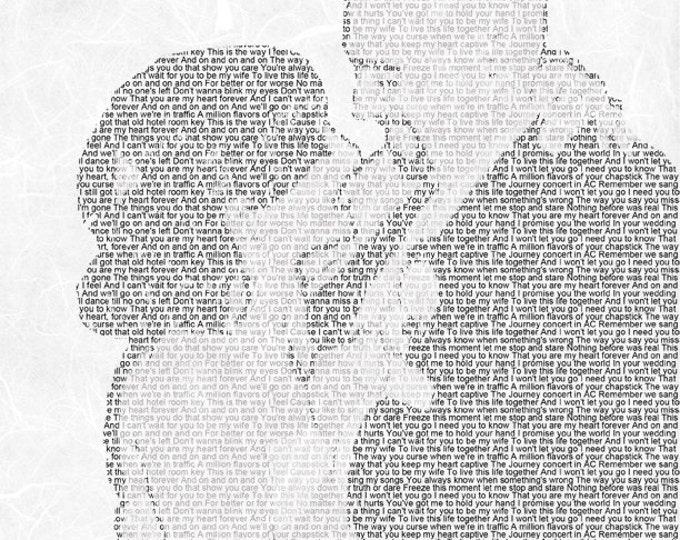 First Dance Lyrics First Dance Songs First dance Song 1st Anniversary Gift Wedding Song Lyrics Wedding Vow Art on Textured Paper 8.5x11