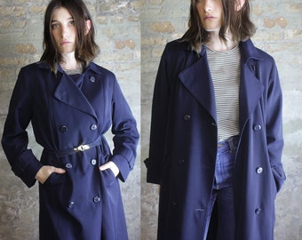 Midnight Blue Trench Coat