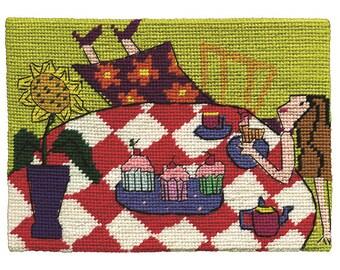 "An ""Overdose of Devonshire Tea"" Jennifer Pudney Needlepoint Kit"
