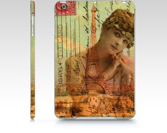 Flapper Young Woman Girl 20s Eiffel Tower French Postage Phone Case iPhone cover case 4, 4s, 5, 5s, 6  Samsung Galaxy S3, S4, s5 ipad mini
