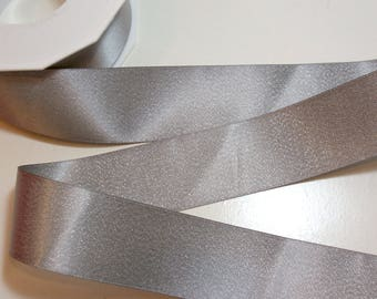 Silver Satin Ribbon 1 1/2 inches wide x 20 yards, Silver Ribbon, Morex Glitter Pearl Silver Satin Ribbon, Silver 8867.38/20-012