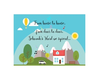 House to House Card - Instant Download - Field Service Ministry- JW gift - JW card