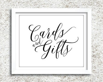 Printable Cards and Gifts Sign | Instant Download | Wedding Cards and Gifts Sign | Wedding Reception Signage | Wedding Signs | (FROST Set)