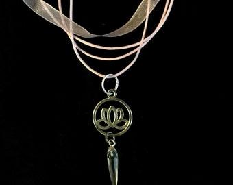 Lotus Quartz Spike Necklace