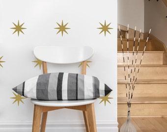 Star Pattern | Vinyl Wall Sticker,  Decal Art | Set of 50 Stars, 4-inch wide