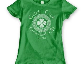 Celtic Club Cleveland Ohio Irish Ireland Women's Jr Fit T-Shirt DT0891