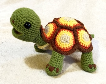 Happy Tortoise Turtle Crochet Pattern PDF
