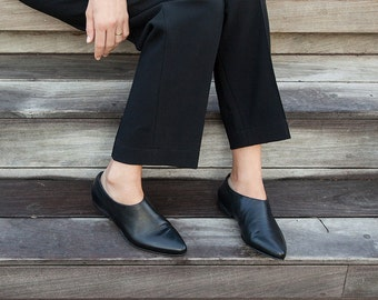Formal Shoes For Ladies, Evening Shoes Flats, Slip On Shoes, Black Leather Shoes, Women Leather Booties, Leather Booties