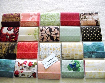 20 -Assorted  Matchbook Notepads -  DCWV  Mariposa Stack  3 inch  x 4 inch fold over sheets -