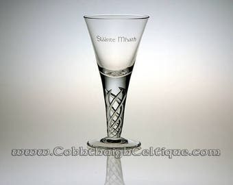 Glencairn Jacobite Engraved Glass: Slainte Mhath