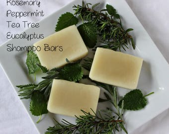 NEW!! Rosemary Peppermint and Tea Tree Shampoo with Jojoba Oil and Aloe Vera- Cocoa Butter, Shea Butter, Avacado Butter