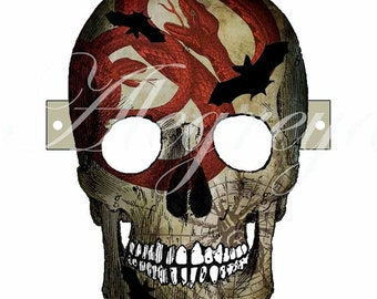 Instant download! Halloween Skull Mask to cut out