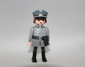 Custom Wehrmacht soldier made out of Playmobil® and custom parts