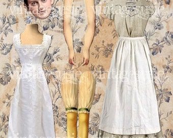 DAISY Digital Paper Doll from DOWNTON ABBEY Vintage Edwardian Collage Sheet Digital Download