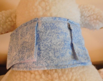 Cat or very small dog feeding tube cover NEW DESIGN - light blue print