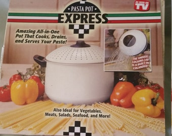 """pasta pot  """"all in one  EXPRESS"""" PASTA POT"""