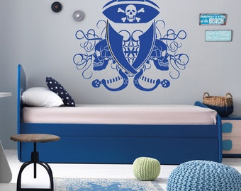 Pirate's Life wall decal, Pirate wall vinyl, Pirate's life wall vinyl sticker, Kids room wall decal, Teens room wall vinyl, Wall art 294