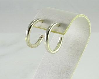 Sterling Silver Hoop Earrings Pierced