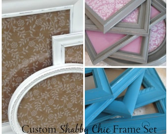 Custom Frame Set Shabby Chic Any Color / Gallery Wall / Upcycled Painted / Home Decor