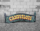 Vintage Fairground Sign Wall Art Carnival Candy Floss