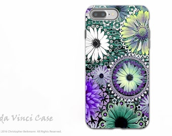 Purple Paisley Floral - Artistic Apple iPhone 7 PLUS - 8 PLUS Tough Case - Dual Layer Protection - Tidal Bloom