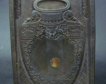 """Vintage Chinese Hand Carving Ink Stone Ink Slab Marked """"ZuoFengYiCheng"""""""