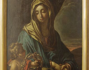 The Virgin Mary with the weapon Christi
