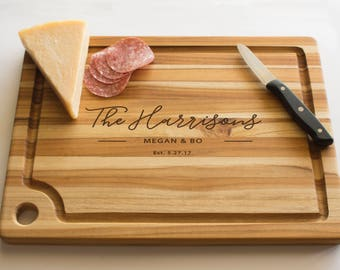 Engraved Cutting Board, Personalized Teak Cutting Board, Custom Cutting Board, Cutting Board, Wedding Gift, Engraved Cutting Board