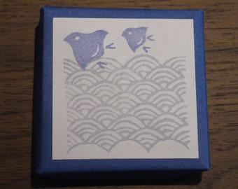 Waves and Plovers Rubber Stamp