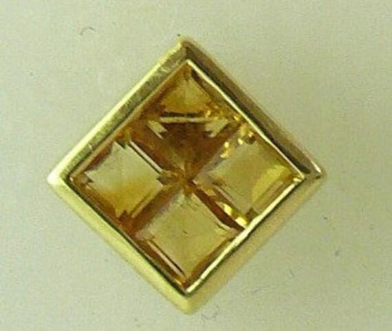 Citrine Earring 1.12ct Earring 14k Yellow Gold