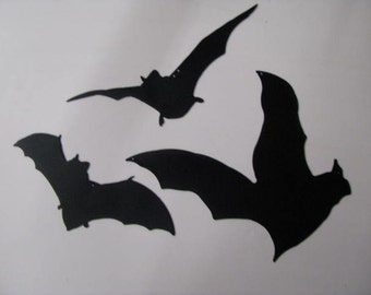 Halloween Bats Set of Three Metal Wall Art