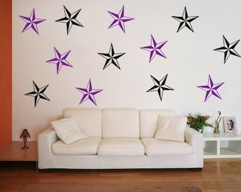 Nautical Star Vinyl Wall Decals