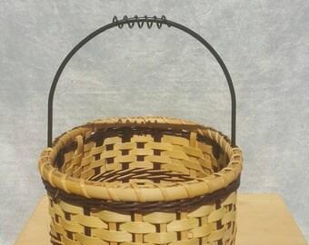 Triple Twine Iron Handle Basket