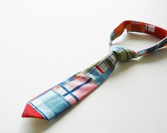 Baby necktie, Madras check photo prop necktie for baby and toddler, madras check necktie for boys - made to order