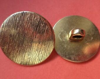 8 metal buttons gold buttons 20 mm (1380)