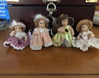 Porcelain Dollie magnet set
