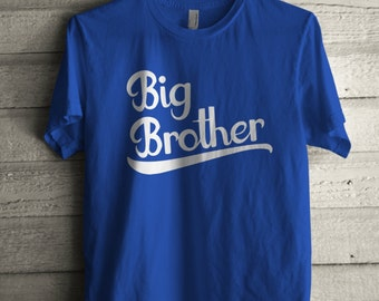 Men's Big Brother Shirt Printed Unisex Adult Family Graphic T-Shirt #1002