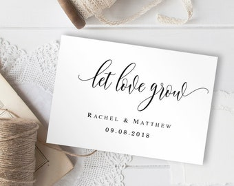 Let love grow tags printable Wedding favor tags template Succulent favors tag Let love grow tags download Succulent tag Wedding pdf #vm11