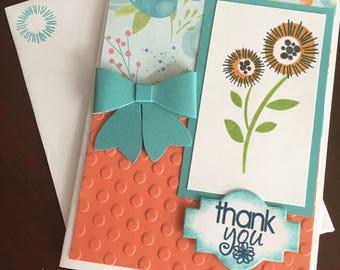 Button Daisy Thank You Card